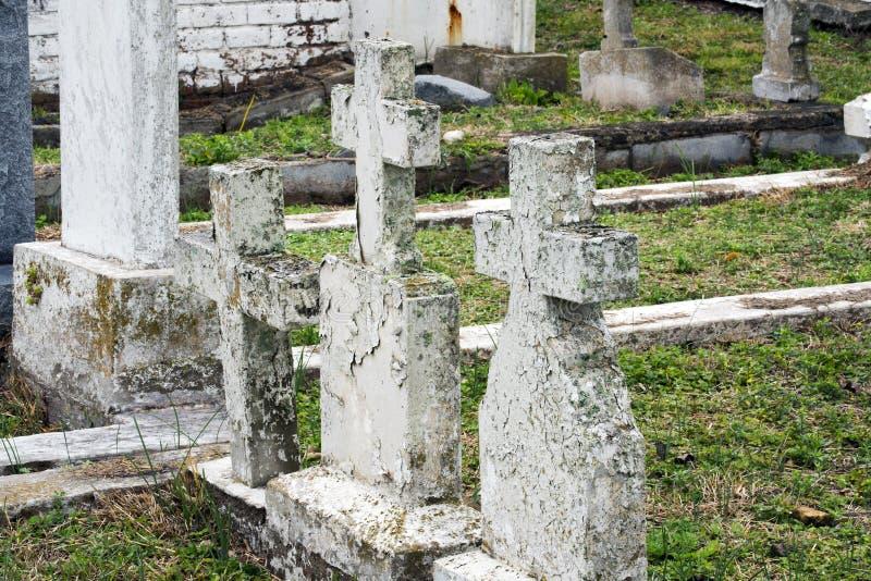 Cemitério velho histórico da cidade em Brownsville, Texas imagem de stock