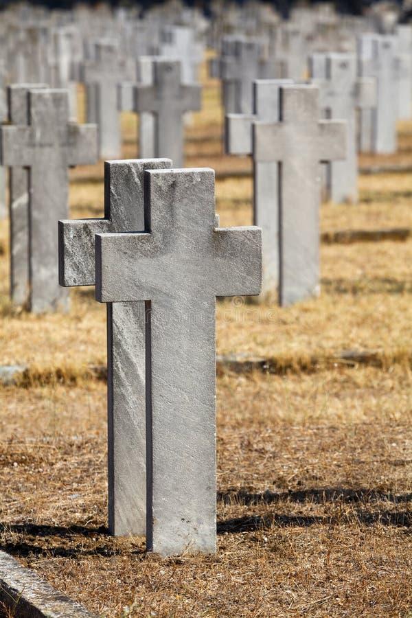 Cemitérios aliados foto de stock