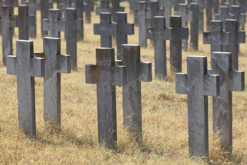 Cemitérios aliados fotos de stock