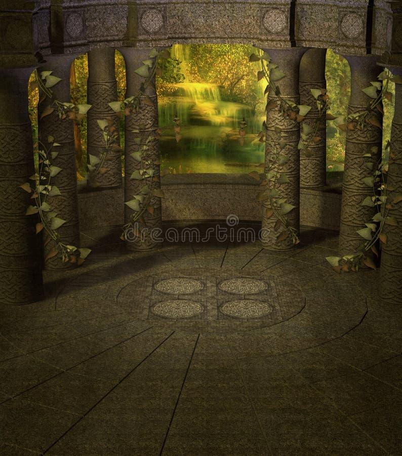 Cenário 03 da fantasia ilustração royalty free