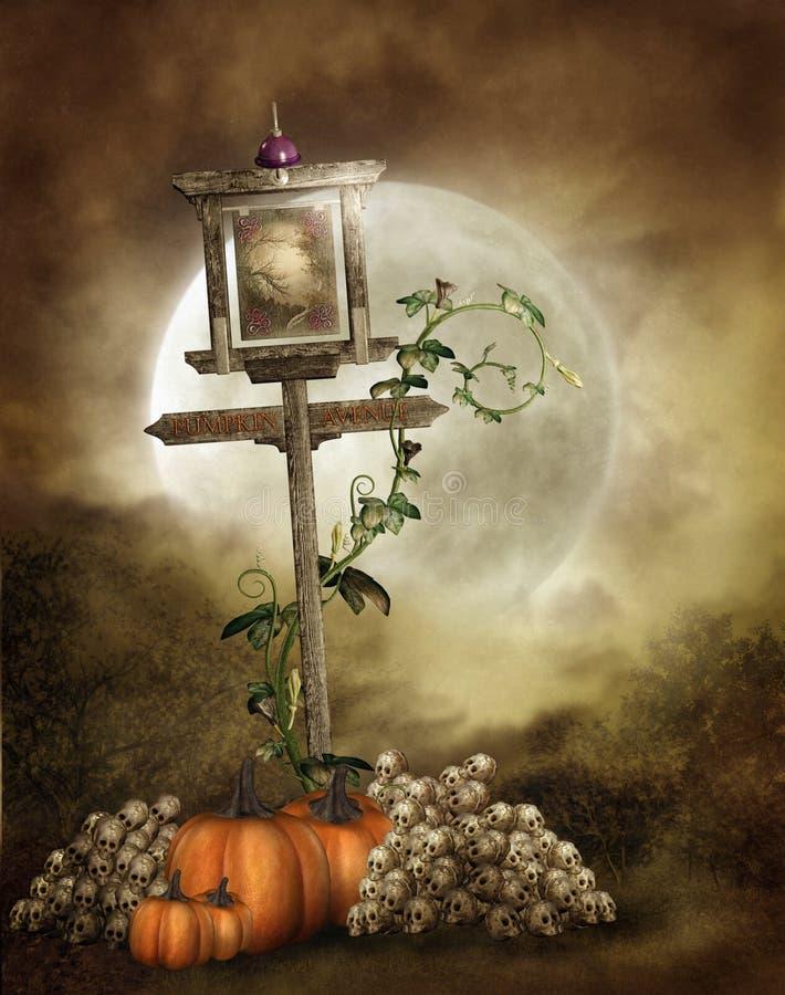 Cenário 1 de Halloween ilustração stock