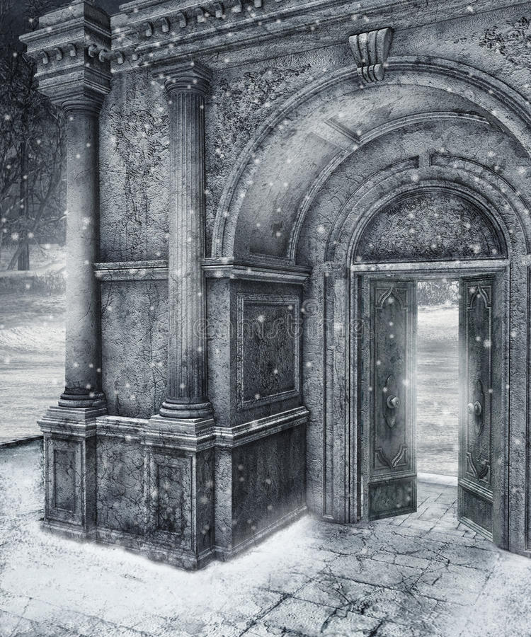 Cenário 10 do inverno ilustração royalty free