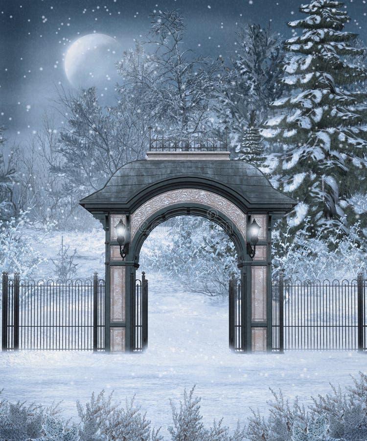 Cenário 11 do inverno ilustração stock