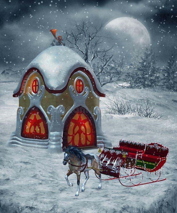 Cenário 24 do inverno ilustração royalty free
