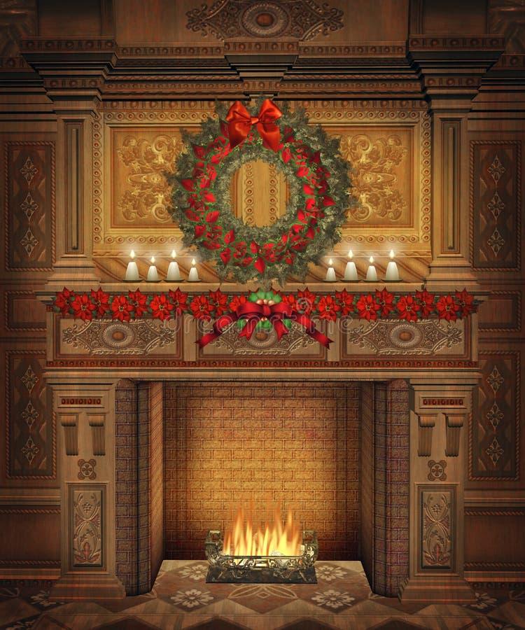 Cenário 4 do Natal ilustração royalty free