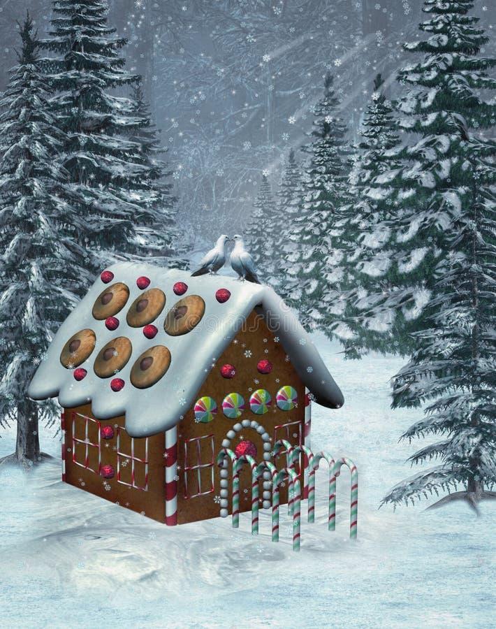Cenário 5 do inverno ilustração stock