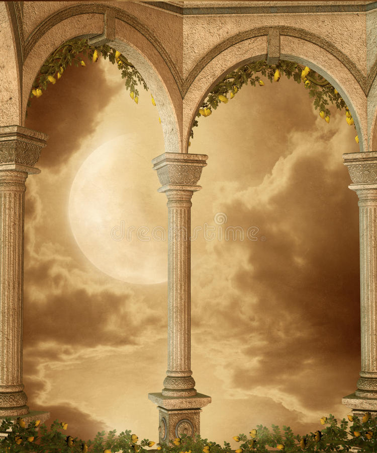 Cenário 55 da fantasia ilustração royalty free