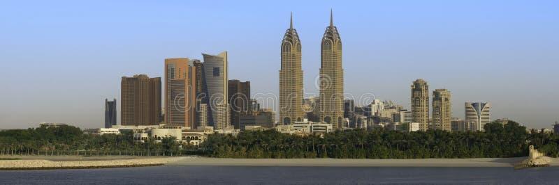 Cenário bonito da cidade de Dubai na vista panorâmica foto de stock