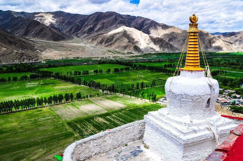 Cenário bonito de Tibet na porcelana foto de stock