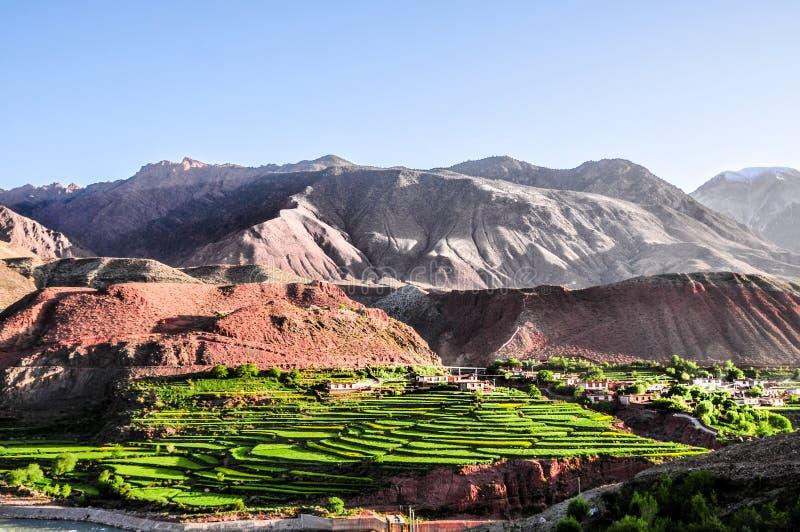 Cenário bonito de Tibet na porcelana fotos de stock royalty free