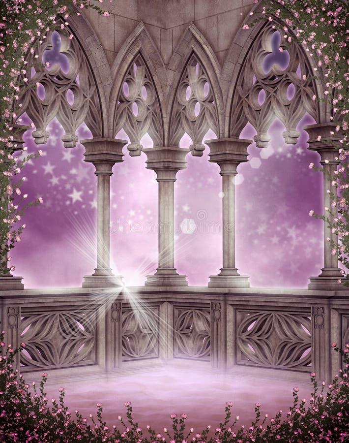 Cenário com rosas 6 ilustração do vetor