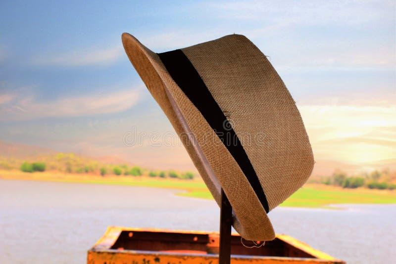 Cenário com um chapéu imagem de stock