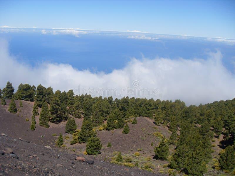 Cenário da área do vulcano do la do La Palma imagens de stock royalty free
