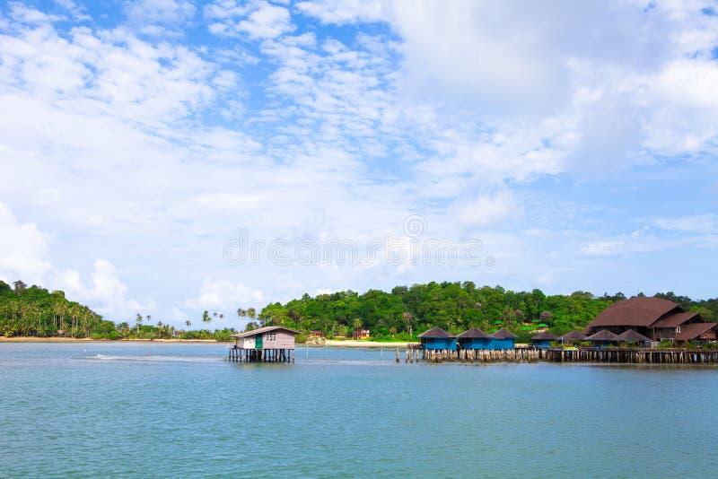 Cenário da aldeia piscatória do bangbao do Koh de Tailândia fotos de stock royalty free