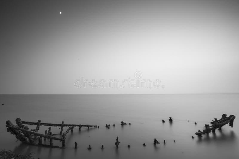 Cenário da baía do jiaozhou de Qingdao, névoa imagens de stock royalty free