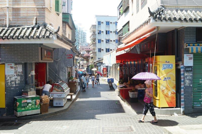 Cenário da cidade antiga de Nantou foto de stock