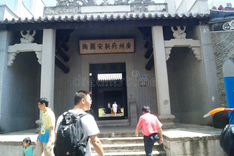 Cenário da cidade antiga de Nantou fotos de stock