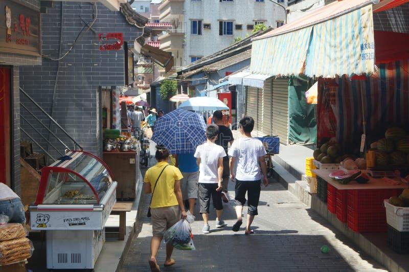 Cenário da cidade antiga de Nantou fotografia de stock royalty free