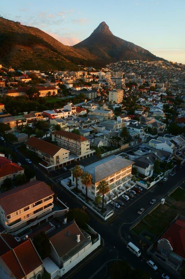 Cenário da cidade de Cape Town imagem de stock
