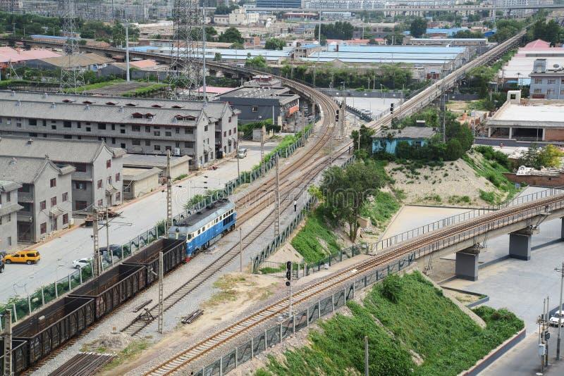 Cenário da estrada de ferro de China imagens de stock