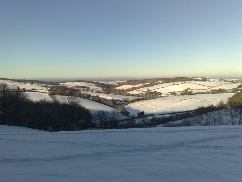 Cenário da neve no inverno imagens de stock