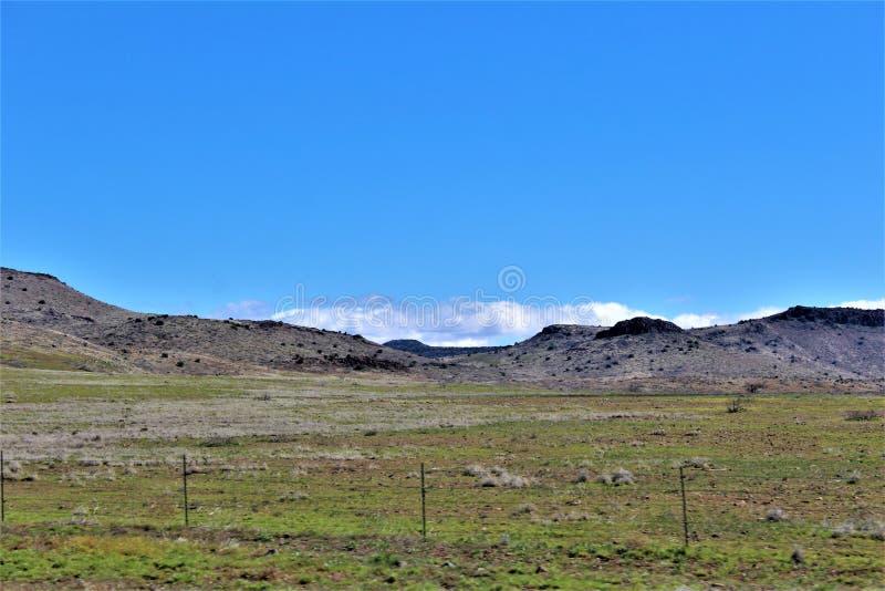 Cenário da paisagem, 17 de um estado a outro, Phoenix ao mastro, o Arizona, Estados Unidos imagens de stock royalty free