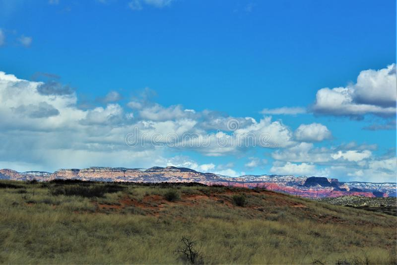 Cenário da paisagem, 17 de um estado a outro, Phoenix ao mastro, o Arizona, Estados Unidos fotografia de stock royalty free