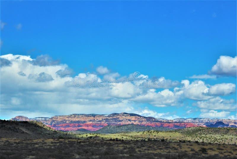 Cenário da paisagem, 17 de um estado a outro, Phoenix ao mastro, o Arizona, Estados Unidos fotos de stock