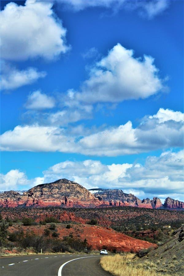 Cenário da paisagem, 17 de um estado a outro, Phoenix ao mastro, o Arizona, Estados Unidos fotografia de stock