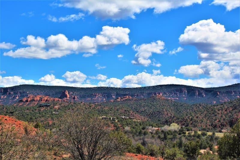 Cenário da paisagem, 17 de um estado a outro, Phoenix ao mastro, o Arizona, Estados Unidos foto de stock royalty free