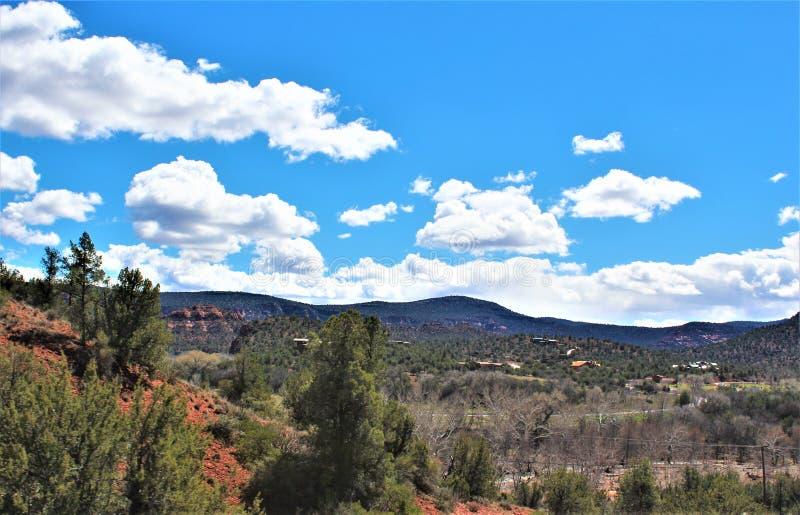 Cenário da paisagem, 17 de um estado a outro, Phoenix ao mastro, o Arizona, Estados Unidos imagem de stock royalty free