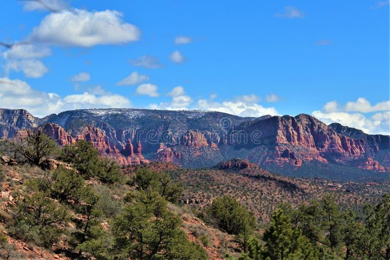 Cenário da paisagem, 17 de um estado a outro, Phoenix ao mastro, o Arizona, Estados Unidos fotos de stock royalty free