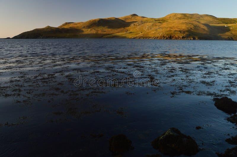 Cenário da paisagem em ilhas de Shetland fotos de stock royalty free
