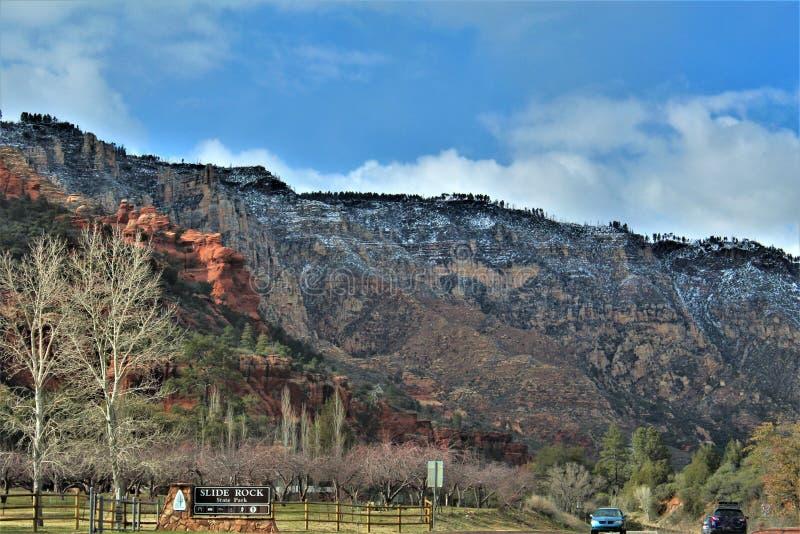 Cenário da paisagem, garganta de Maricopa County, Oak Creek, o Arizona, Estados Unidos foto de stock royalty free