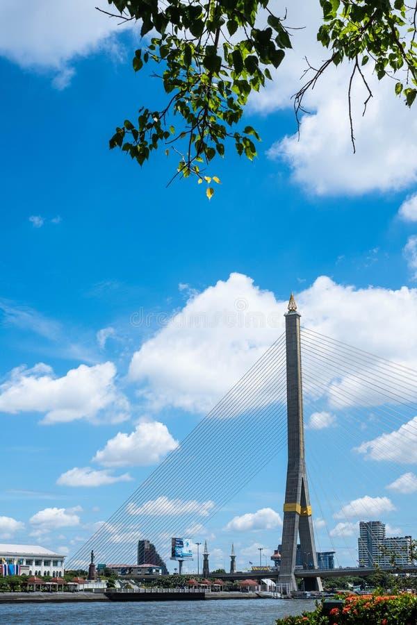 Cenário da ponte Rama 8 fotografia de stock