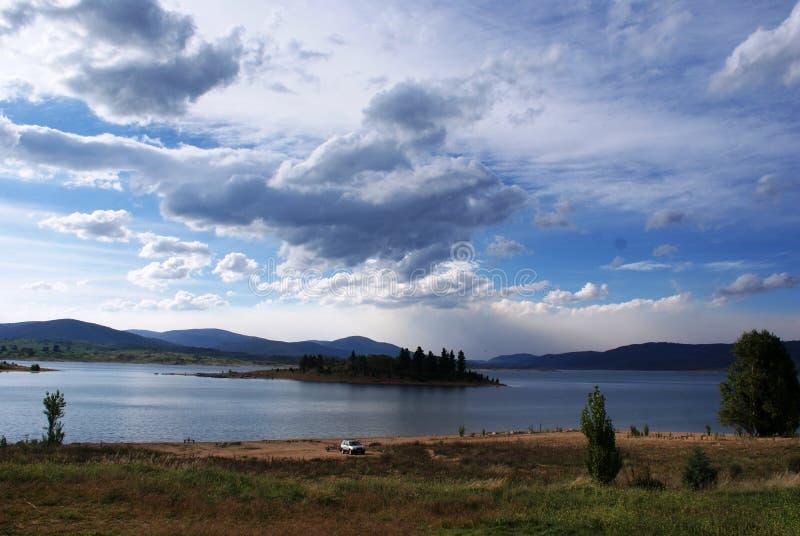 Cenário de Jindabyne do lago foto de stock royalty free