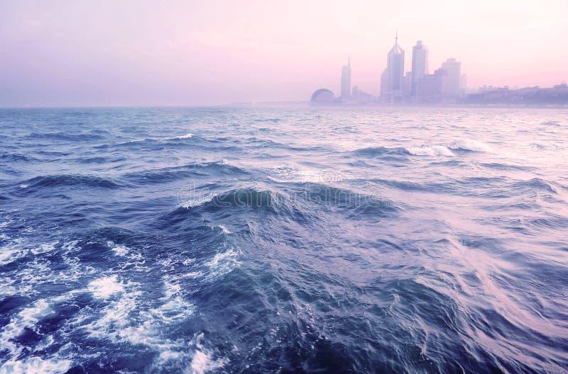 Cenário de Qingdao, mar fotos de stock