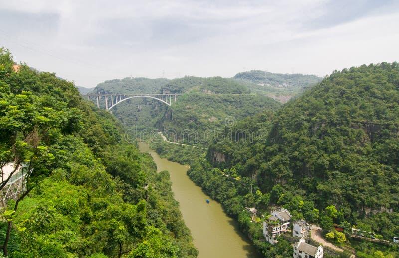 Cenário de Three Gorges foto de stock