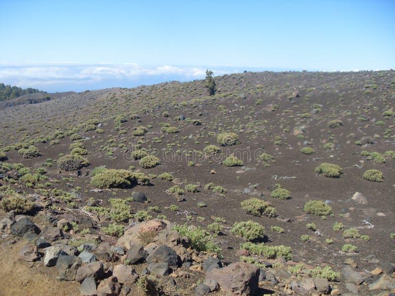 Cenário de Vulcano do La Palma fotografia de stock