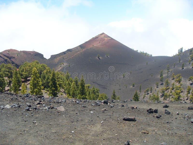 Cenário de Vulcano do La Palma foto de stock royalty free