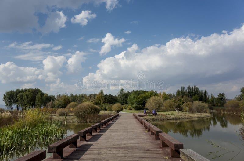 Cenário de Wen Ying Lake fotos de stock