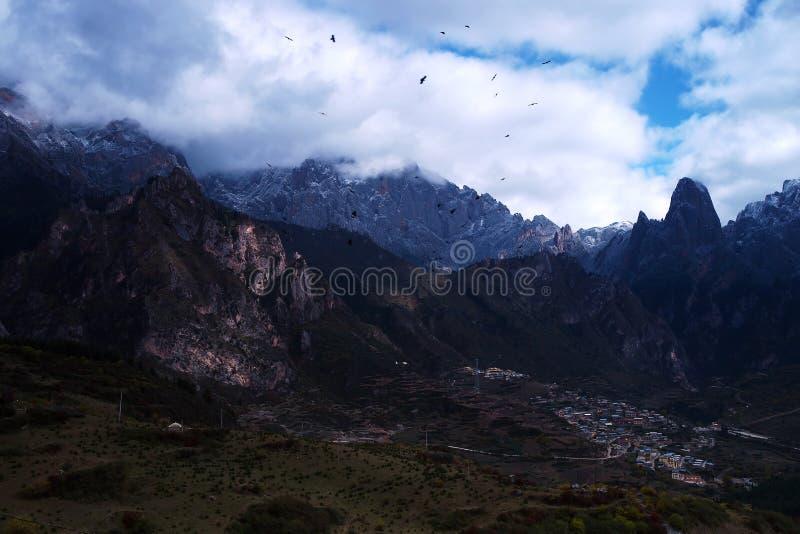 Cenário de Zhagana em Gannan, ` s Gansu de China fotos de stock royalty free