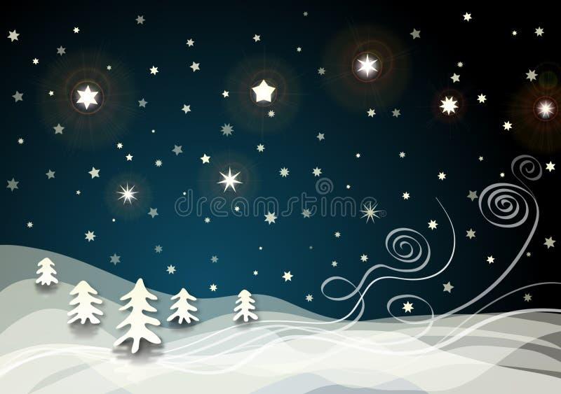 Cenário do inverno ilustração royalty free
