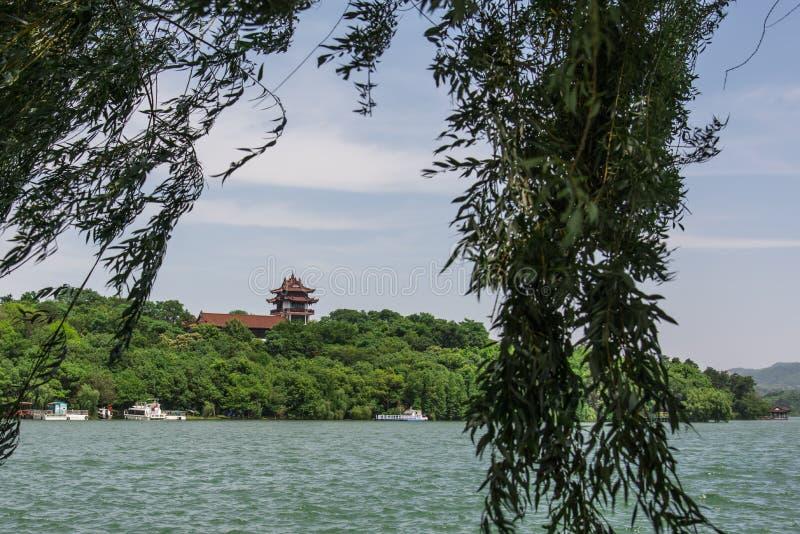 Cenário do lago Tianmu fotos de stock