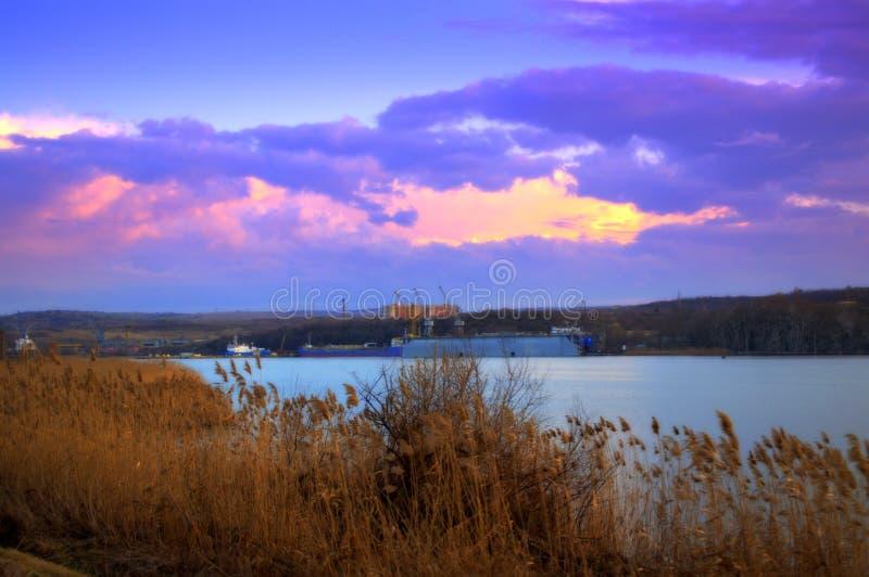 Cenário do lago Varna imagem de stock royalty free