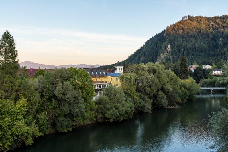 Cenário do outono de Judenburg, Áustria em Europa imagens de stock
