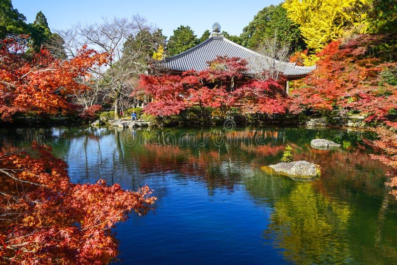 Cenário do outono de Kyoto, Japão imagem de stock