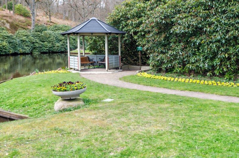 Cenário do parque de Ronneby na estação de mola fotografia de stock