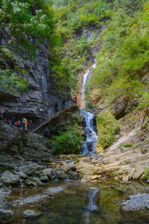 Cenário do ponto cênico de Fenghuang Grand Canyon em Xiangxi, Hunan foto de stock royalty free