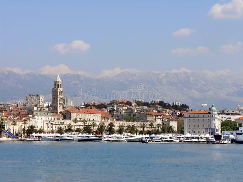Cenário do Split, Croatia fotografia de stock